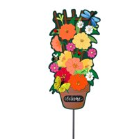 "Evergreen 24"" Statement Stake Kit  - Garden Friends"