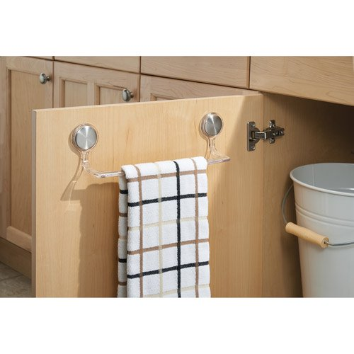 Average Height Of Towel Bar In Bathroom: InterDesign Forma Self-Adhesive Towel Bar Holder For