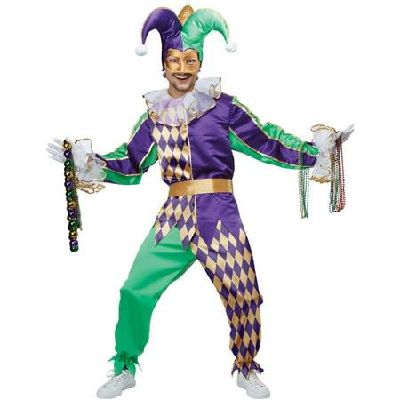 Adult Mardi Gras Jester Costume (Mardi Gras Harlequin Costume)