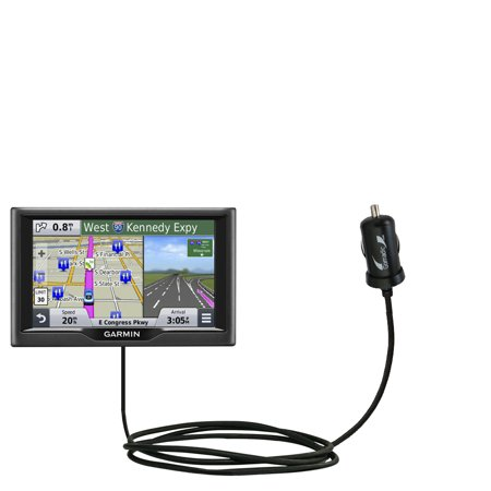 Gomadic Intelligent Compact Car   Auto Dc Charger Suitable For The Garmin Nuvi 57   58 Lm Lmt   2A   10W Power At Half The Size  Uses Gomadic Tipexcha