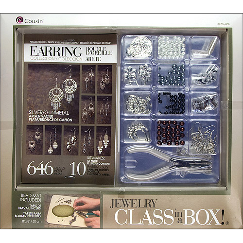 Cousin Jewelry Class in a Box Kit, Silver-Tone Earrings