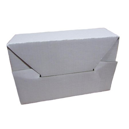 (1) Corrugated Cardboard Mailer 6 x 4 x 2 Inches Tuck Top One-Piece Die-Cut Shipping Carton Small White Mailing (Outside Tuck Mailers)