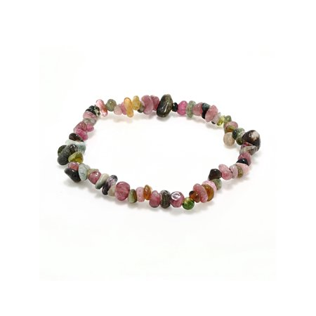Women's Multicolor Tourmaline Stone Chip Stretchy Bracelet