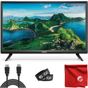 VIZIO D-Series 24-Inch Class 1080p Full HD LED Smart TV (D24F-G1) with Built-in HDMI, USB, SmartCast, Voice Control Bundle with Circuit City 6-Feet Ultra High Definition 4K HDMI Cable and Accessories
