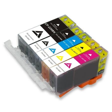 Linktoner Pgi 220 BK Cli-221 Compatible Color Canon Ink Cartridges PGI-220BK Cli221