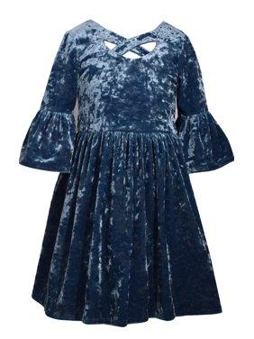 9e640ee32fa Product Image Bonnie Jean Girls Blue Bell Crush Velvet Dress 12