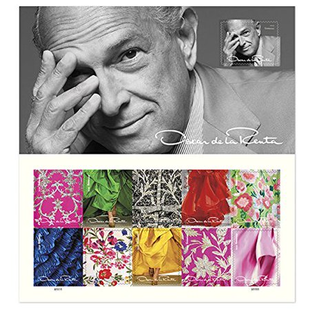 Oscar de la Renta 1 Sheet of 11 USPS Forever First Class Postage Stamps  Clothes Fashion Designers