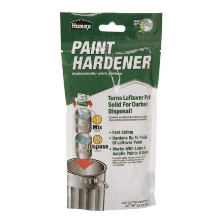 Waste Away Paint Hardener, 12 pack, Works with latex & acrylic paints & stains By -