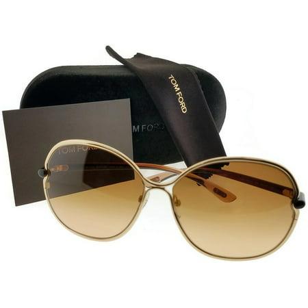 - Tom Ford FT0222-28A-63 Leila Women's Brown Frame Brown Lens Genuine Sunglasses