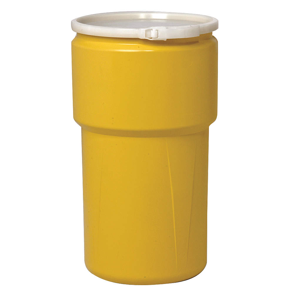 EAGLE Transport Drum, Open Head, 20 gal., Yellow 1652