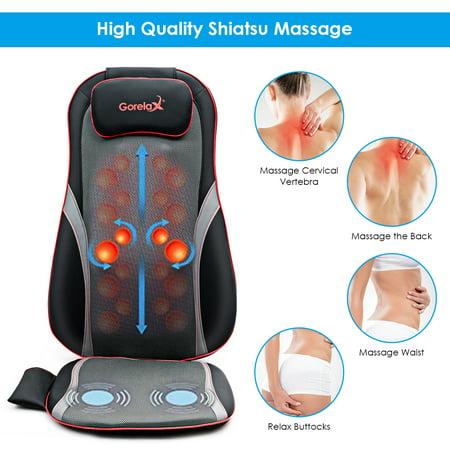 Shiatsu Neck Back Massage Seat Cushion w/ Hip Vibration & Heating Function - image 8 of 10