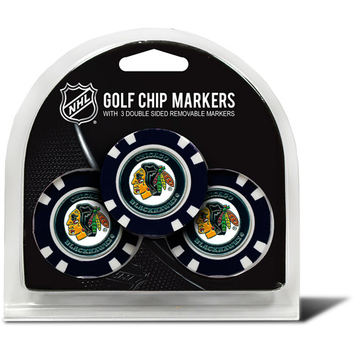 Team Golf NHL Chicago Blackhawks 3 Pack Golf Chip Ball Markers