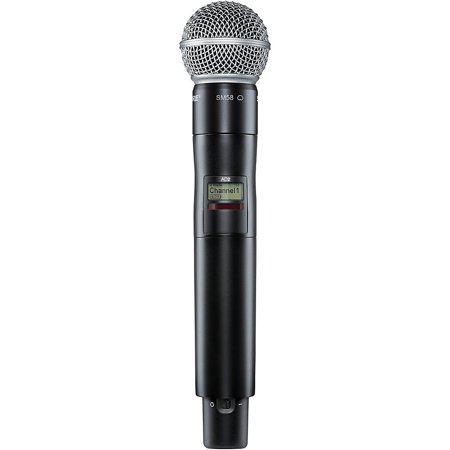 shure axient digital ad2 sm58 handheld wireless transmitter with sm58 microphone. Black Bedroom Furniture Sets. Home Design Ideas