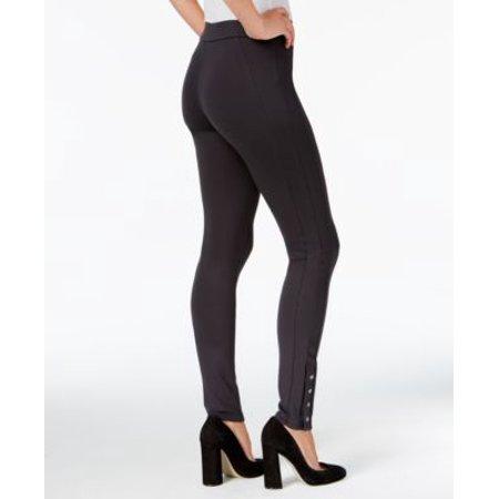 Style Co Snap-Hem Ponte-Knit Leggings Heather Navy -