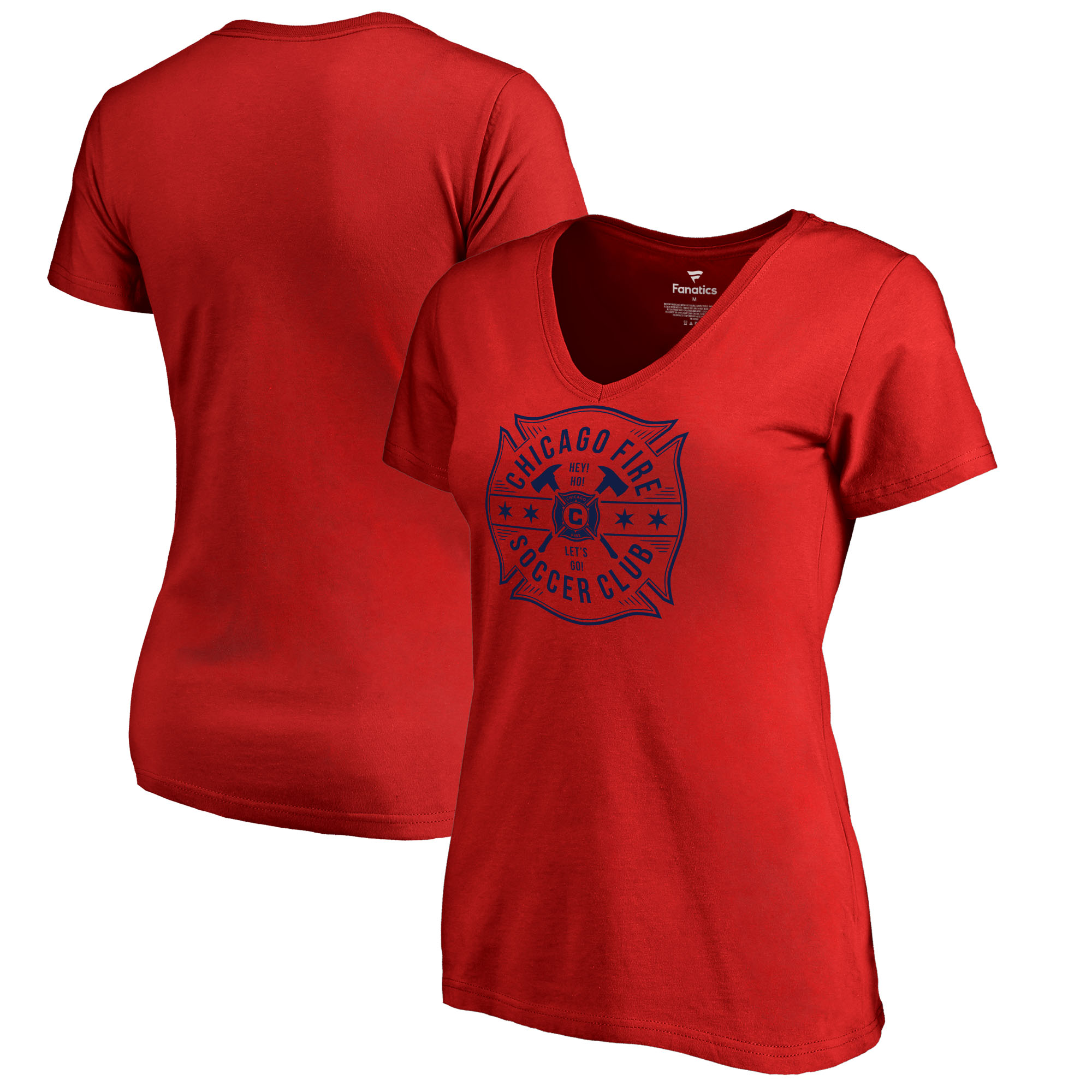 Chicago Fire Fanatics Branded Women's Plus Size Hometown Collection V-Neck T-Shirt - Red