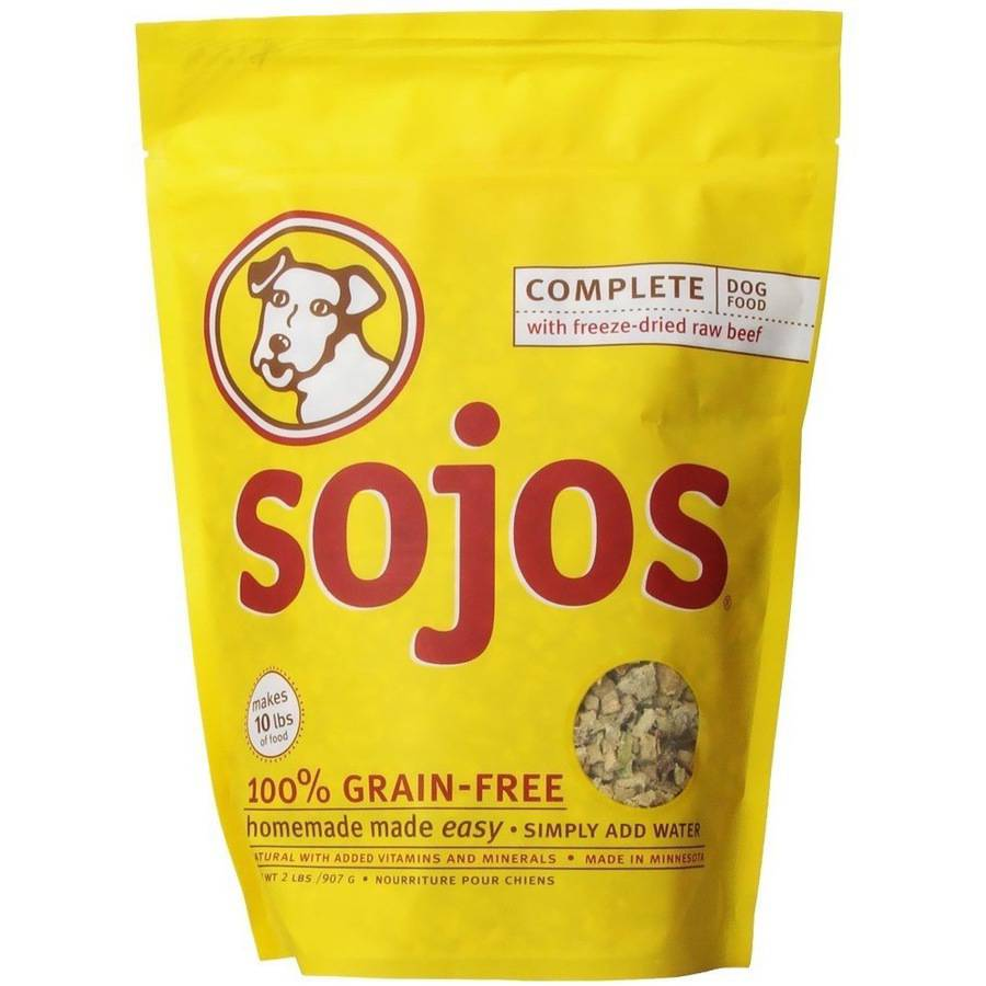 Sojos Complete Dog Food, Beef, 2 lb
