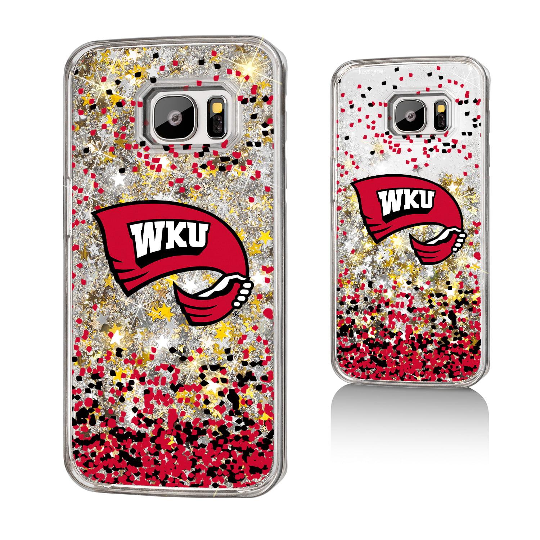 WKU Western Kentucky Hilltoppers Confetti Glitter Case for Galaxy S7