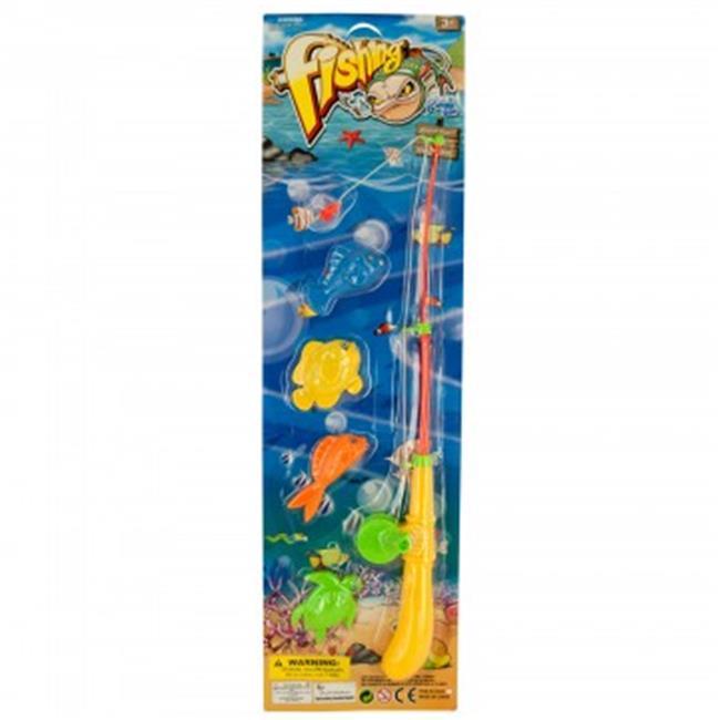 Bulk Buys HX154-64 Magnetic Fishing Play Set - 64 Piece