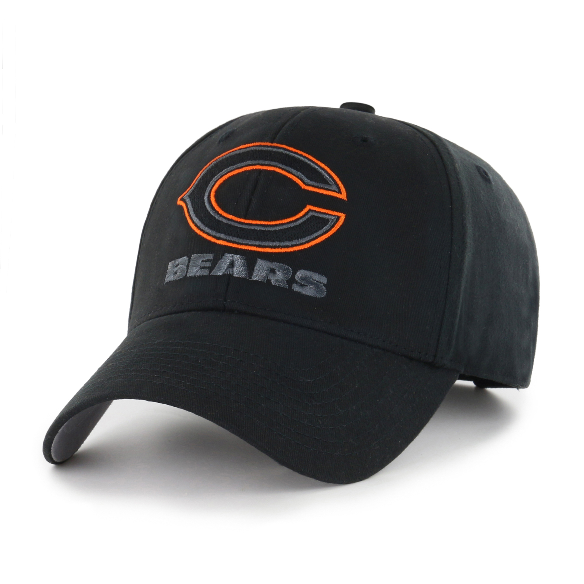NFL Chicago Bears Black Mass Basic Adjustable Cap/Hat by Fan Favorite