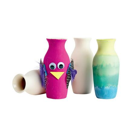 Decorative Item Set - Colorations Decorative Ceramic Vases - Set of 12 (Item # MINIVASE)