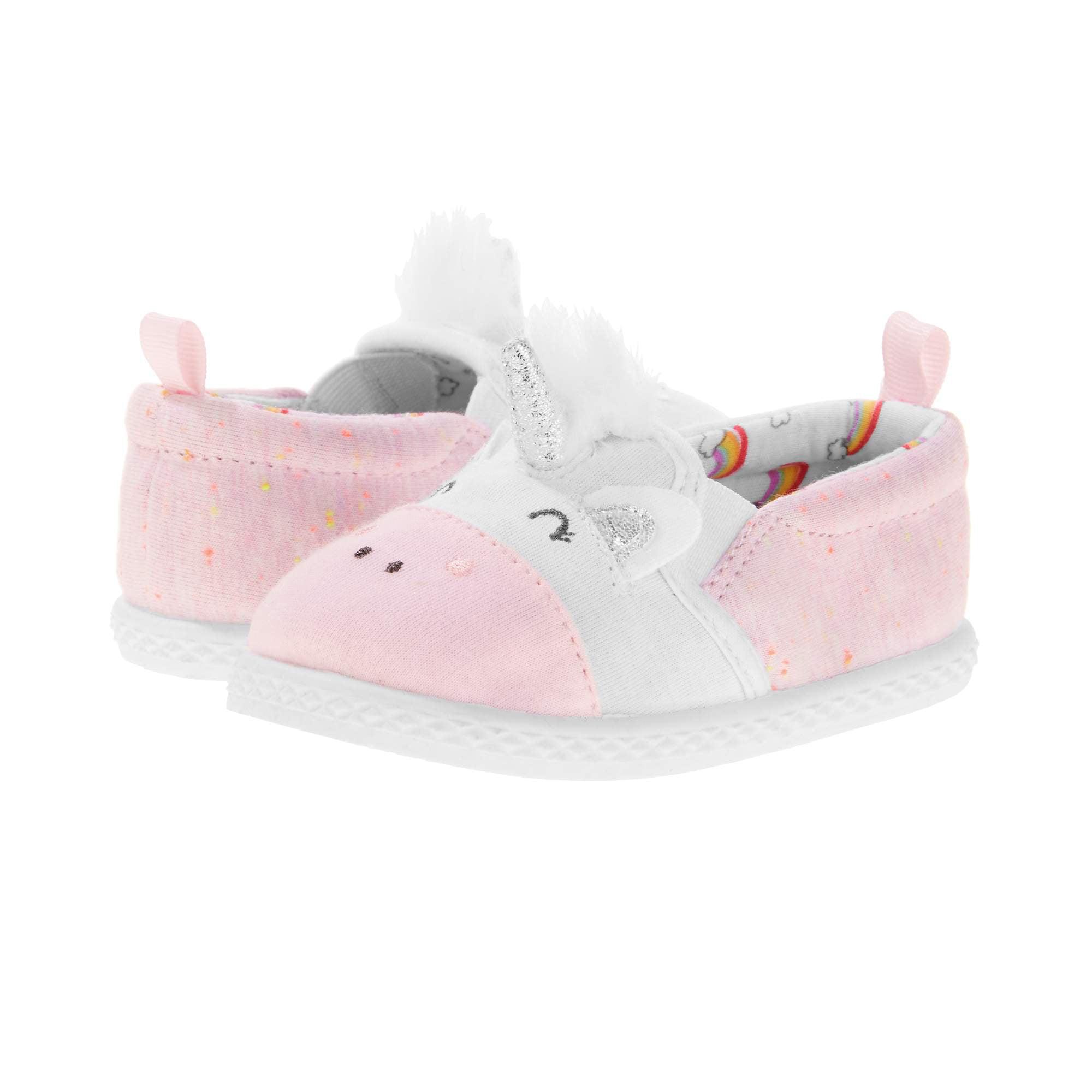 Baby Girl's Canvas Unicorn Slip-on