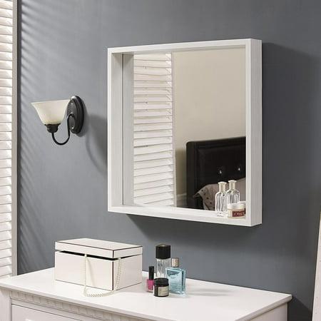 Storm Mirror - Naomi Home Square Storage Function Mirror-Finish:White