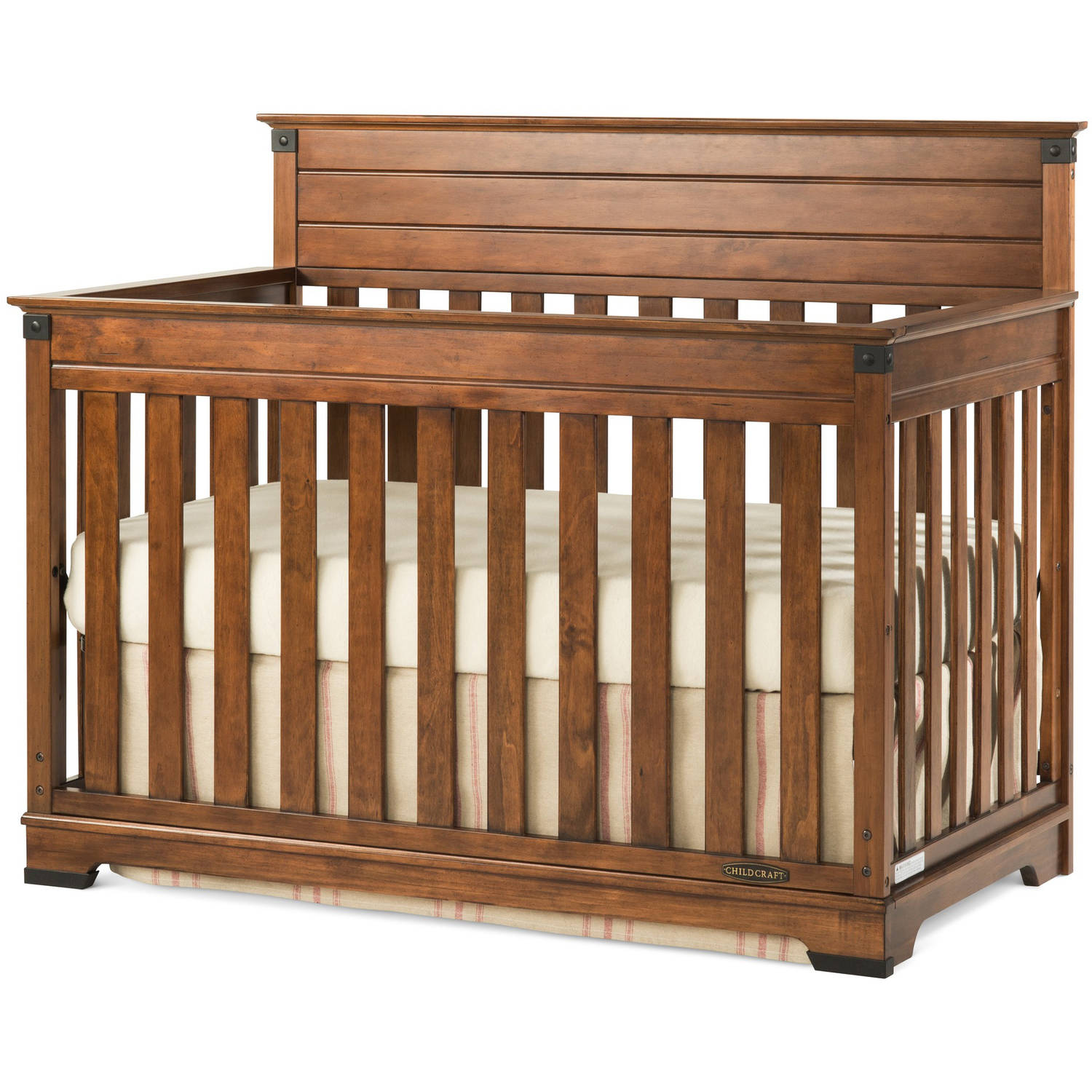 Child Craft Redmond 4-in-1 Convertible Crib, Coach Cherry