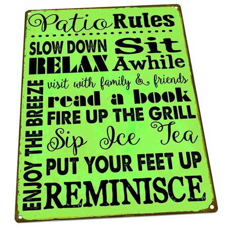 Green Patio Rules 9