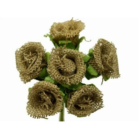 BalsaCircle 30 Burlap Mini Rose Buds Flowers - DIY Rustic Home Wedding Party Artificial Bouquets Arrangements Centerpieces](Rustic Bouquet)