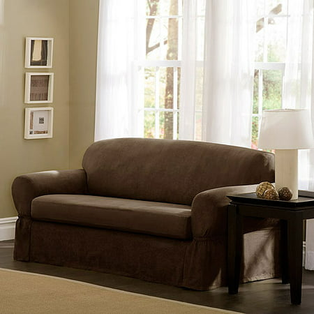 Better Homes And Gardens Stretch Suede 2 Piece Sofa Furniture Cover Slipcover