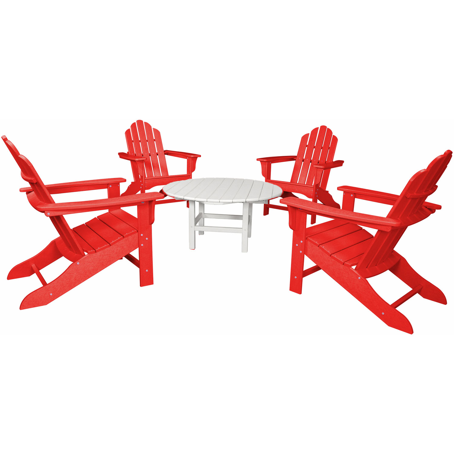 Hanover Outdoor All-Weather 5-Piece Adirondack Chat Group