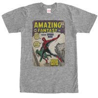 Marvel Men's Spider-Man Comic Book Cover Print T-Shirt