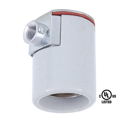 B&P Lamp® Edison Size Porcelain Socket With Side Outlet