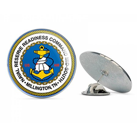 US Navy Naval Reserve Readiness Command Mid-South  Military Veteran USA Pride Served Gift Metal 0.75