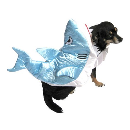 Shark Dog Costume Silky Blue Fish Pet Outfit - Deer Costume Outfit