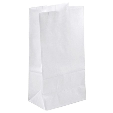 Green Direct Perfect Durable White Paper Lunch Bags Size Medium for All Ages (Pack of 50) - White Lunch Bags