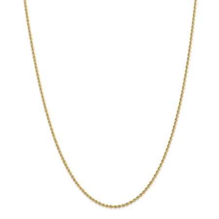14k Yellow Gold 2mm Link Rope Chain Necklace 22 Inch Pendant Charm Gifts For Women For Her