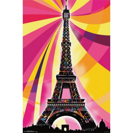 Eiffel Tower - Psychedelic Poster Poster (Point Tower)