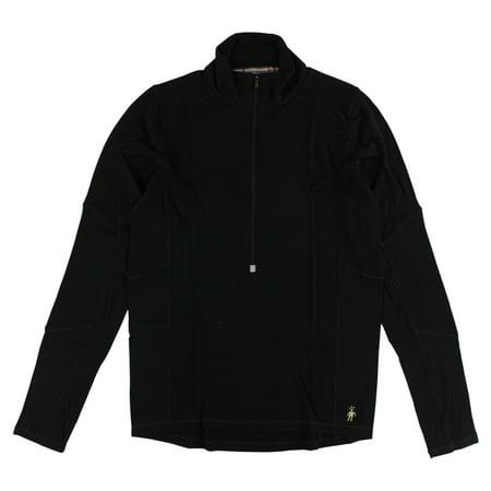 Smartwool Mens PhD Light Zip Running Top Black Smartwool Crew Shirt