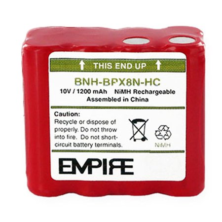 High Capacity Mag (BNH-BPX8N-HC Ni-MH Battery - Rechargeable Ultra High Capacity (1200 mAh) - replacement for Ritron BPX-8NHC Battery )