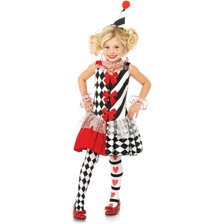 Harlequin Clown Child Halloween Costume - Harlequin Halloween