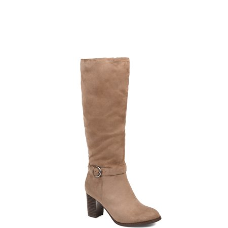 Womens Comfort Wide Calf Side Strap Riding (Strap Calf Boot)