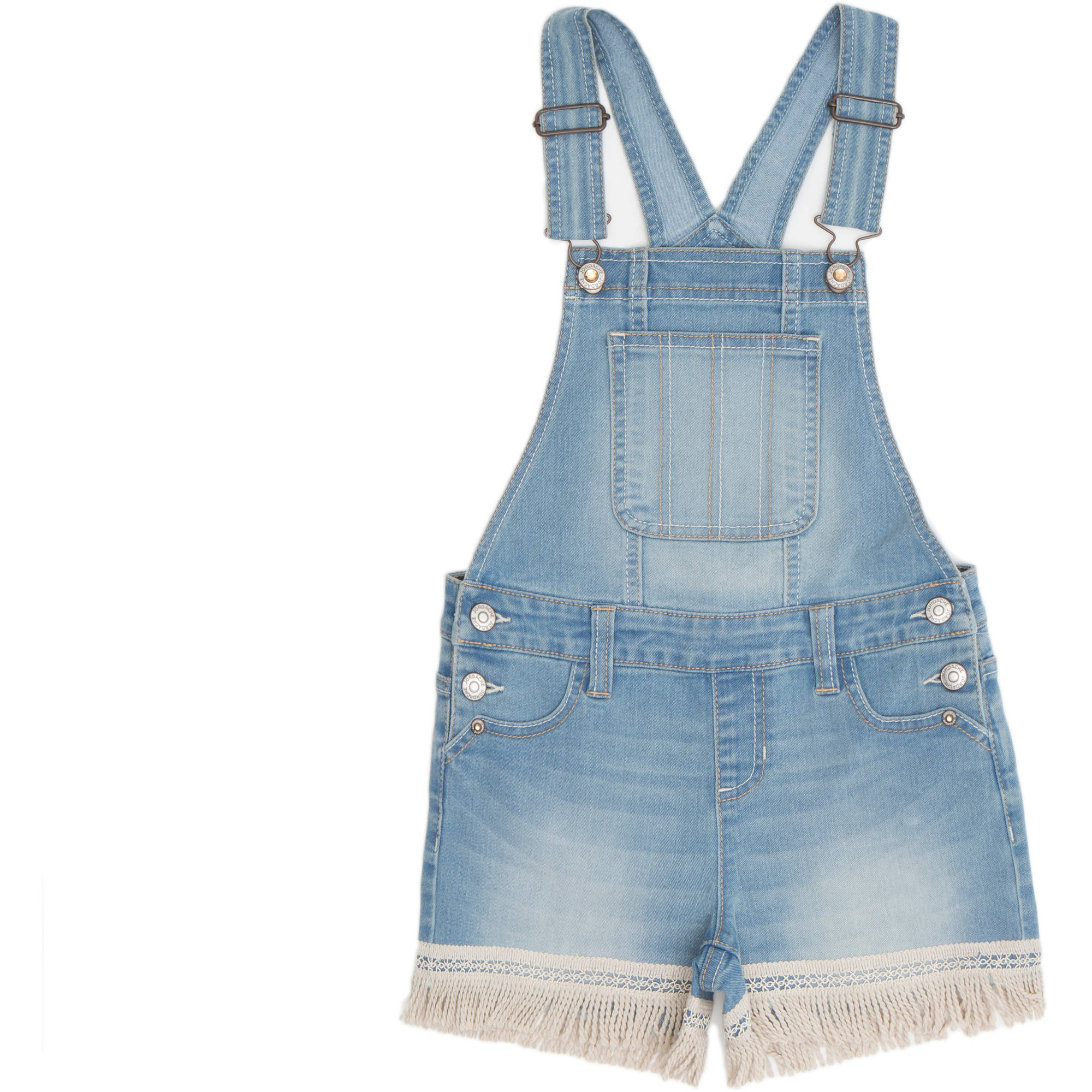 Jordache Girls' Fringe Hem Shortalls