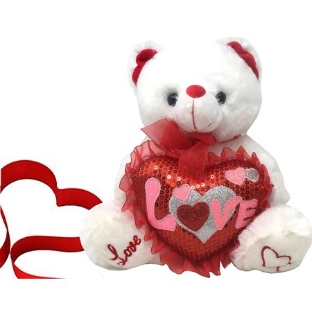 Tedy Bears (Best Teddy Bear Gift with Love Heart 13 Inches tall Perfect Plush Teddy Bear Gift for Mothers Day, Boyfriend or)