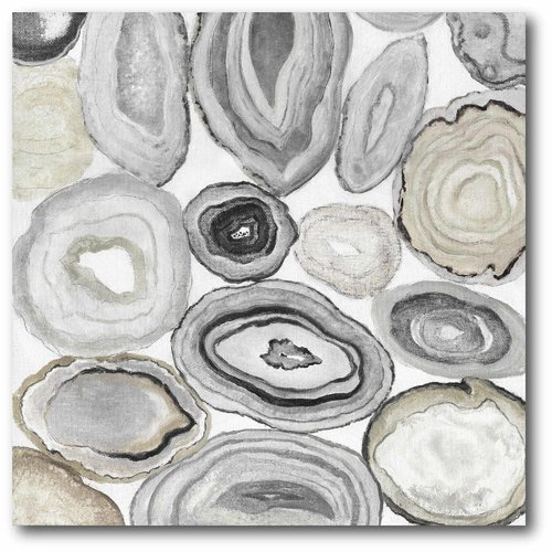 Courtside Market 'Gray Halves I' Graphic Art Print on Wrapped Canvas