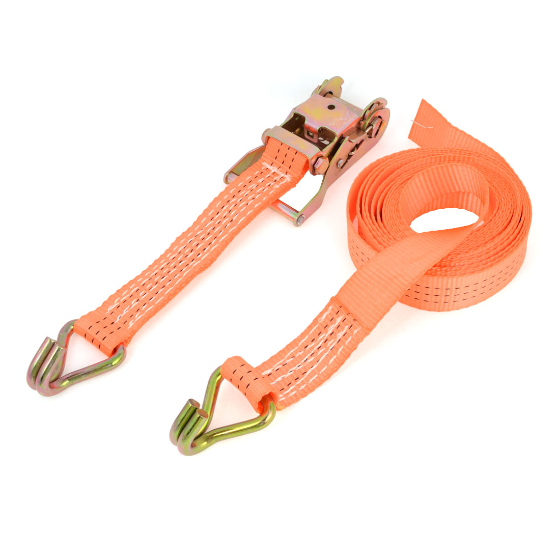 Unique Bargains Lorry Truck Container Goods Binding Luggage Bundle Rope 5M Long Orange