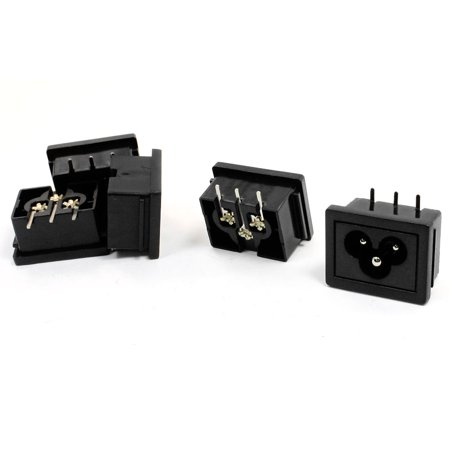 AC 250V 2.5A Power Supply C6 Socket Inlet Adapter Connector 5Pcs - image 1 of 1