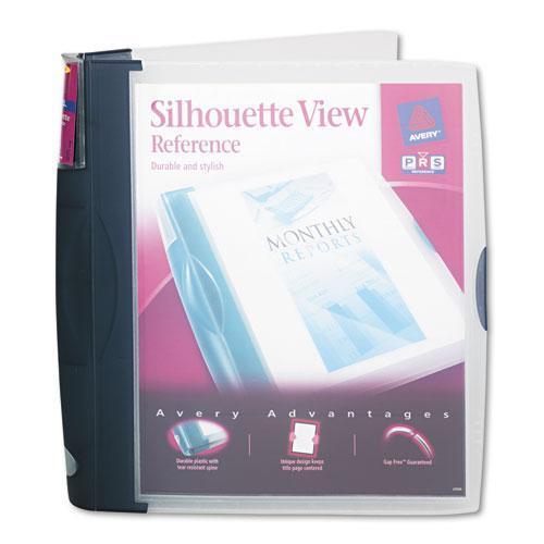 "Avery 17332 Silhouette View Binder with Gap Free Round Rings, 1"" Capacity, Dark Blue"