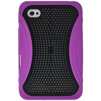 Samsung Galaxy Case, Slim Designed Hard Shell Snap On Protective Case Impact Defender Cover for Samsung GALAXY Tab GT-P1000 - Black/ Purple