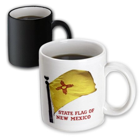 3dRose State Flag of New Mexico - Textured (PD-US), Magic Transforming Mug, 11oz